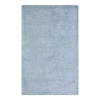"Edgy Hand Tufted Bamboo Silk & Wool Rug- 7' 9"" x 9' 9"" For Sale"