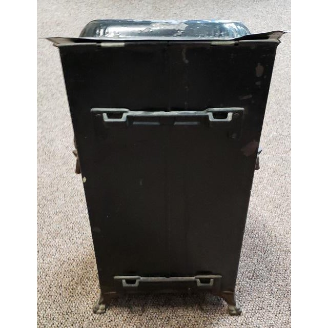American Victorian Hand Painted Firewood Bin W/ Insert C.1890s For Sale - Image 10 of 13