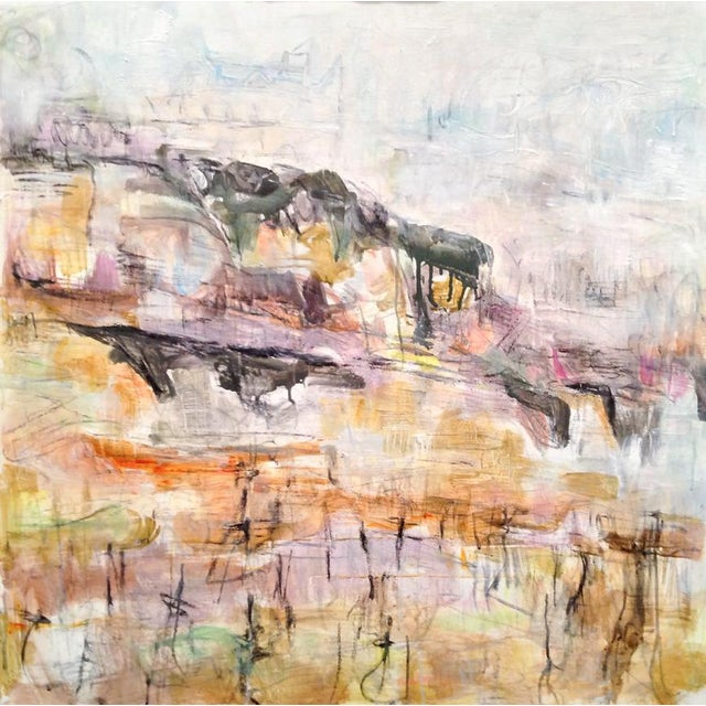 """""""Winter Vineyard"""" by Trixie Pitts Large Abstract Oil Painting For Sale - Image 9 of 10"""