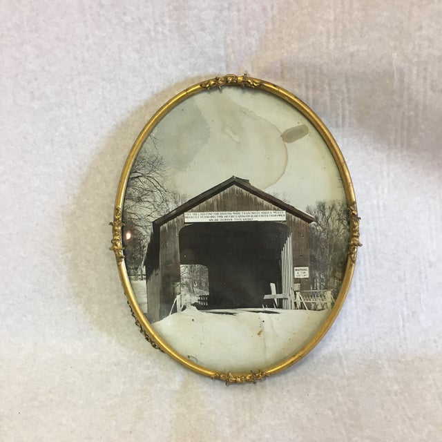 Vintage Brass Picture Frame For Sale In South Bend - Image 6 of 6