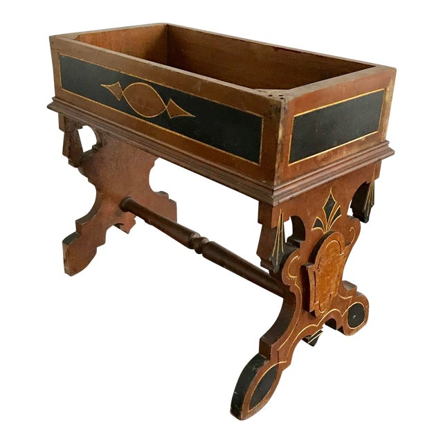 19th Century Victorian Wooden Plant Stand For Sale