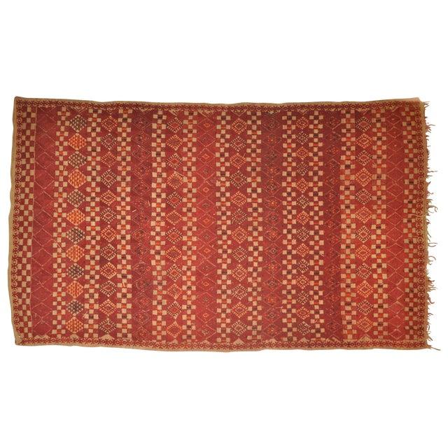 "Vintage Moroccan Wool Straw Rug - 5'10"" x 8'10"" - Image 1 of 4"