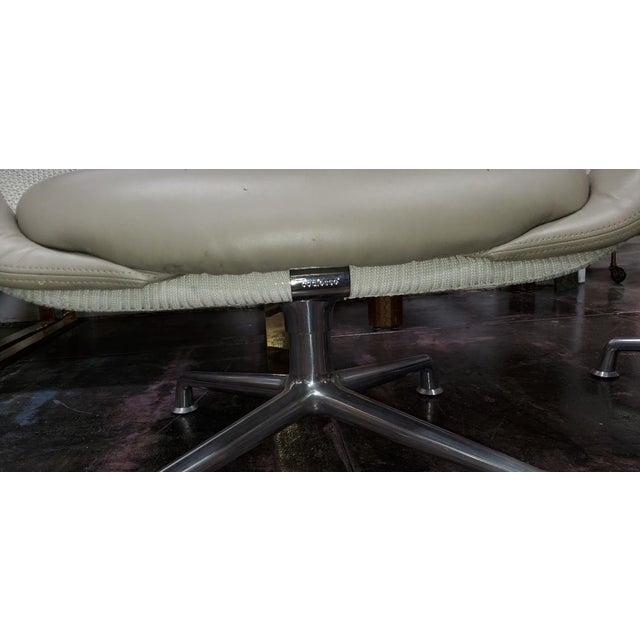 Coalesse for Steelcase Gray Leather Upholstery Lounge Chairs- A Pair For Sale In Los Angeles - Image 6 of 13