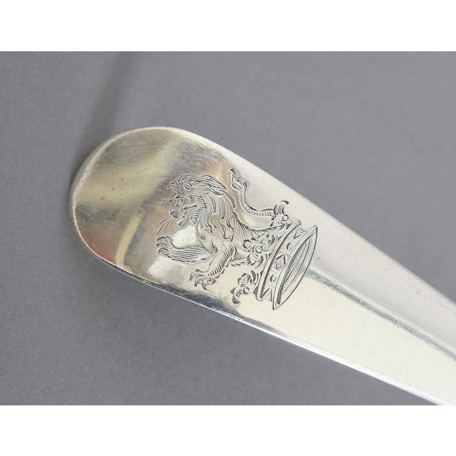 George III Sterling Soup Ladle by Hester Bateman For Sale In Boston - Image 6 of 9