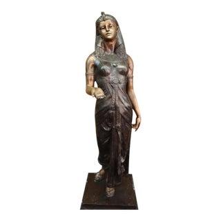 Egyptian Revival Royal Princess Bronze Sculpture
