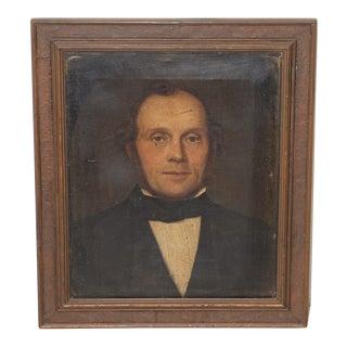 Fine 19th Century Oil Portrait of a Handsome Gentleman