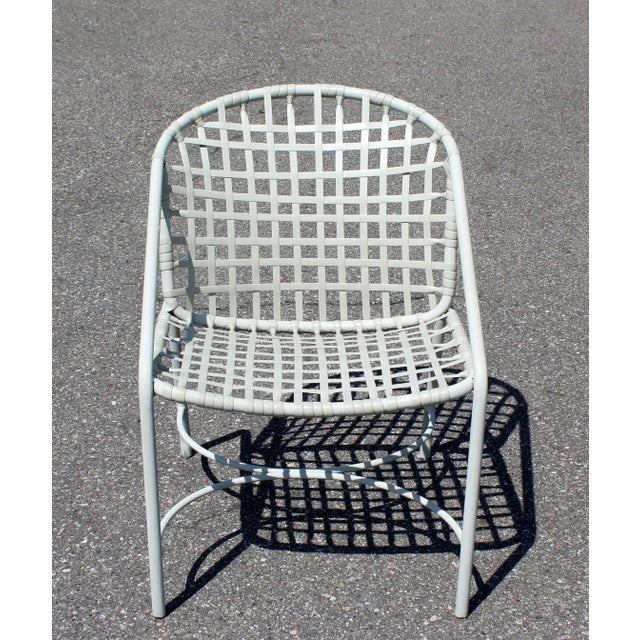 Brown Jordan Mid-Century Modern Brown Jordan Kantan Patio Dinette Set Table Four Chairs 1960s For Sale - Image 4 of 8