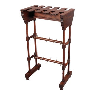19th C. Mahogany Boot Rack For Sale