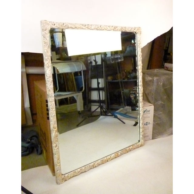 Shabby Chic Hand-Carved Mirror - Image 4 of 9