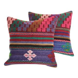 Turkish Kilim Pillows - A Pair