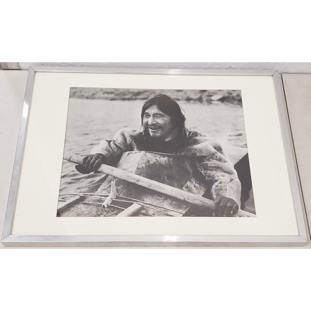 "Black Vintage ""Eskimo"" Framed Photograph by the Education Development Center C.1967 For Sale - Image 8 of 8"
