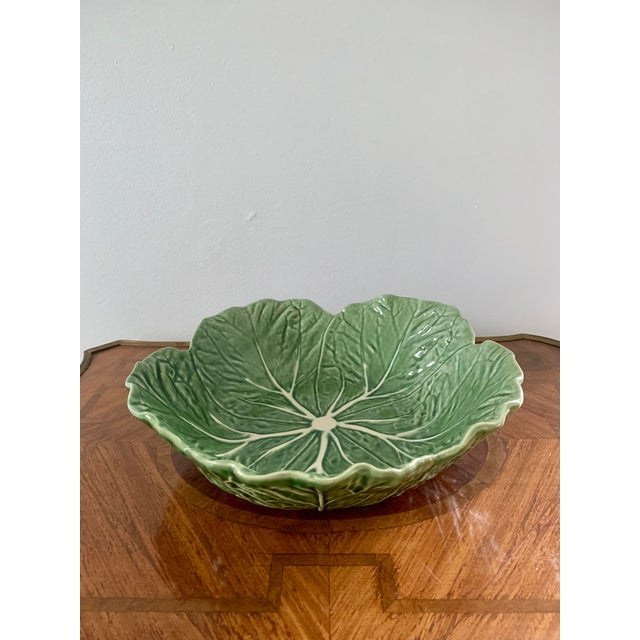 Vintage Portuguese Ceramic Cabbage Bowl For Sale In South Bend - Image 6 of 6