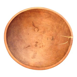 Antique American Maple Dough Bowl For Sale