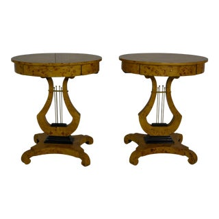 Empire Style Side Tables - a Pair For Sale