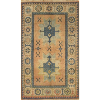Pasargad Hand-Knotted Kazak Rug - 4′ × 6′6″ For Sale