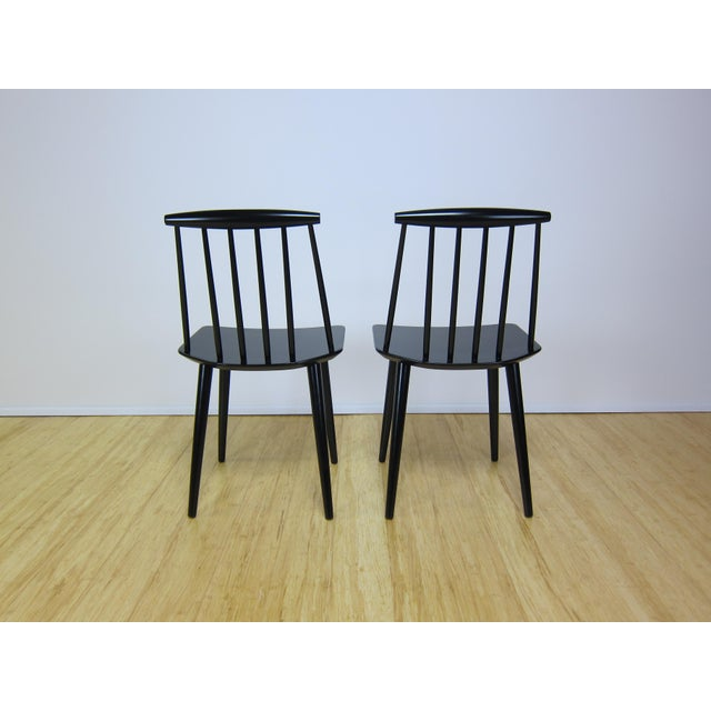 Danish Modern 1968 Folke Palsson Black J77 Chairs for Fdb Mobler - a Pair For Sale - Image 3 of 10