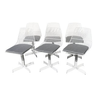 "Modern Wire ""Swiveling Ethel"" Dining Chairs - Set of 6 For Sale"