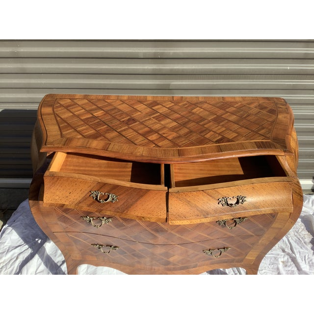 Metal Italian Bombay Chest W/ Parquetry For Sale - Image 7 of 13