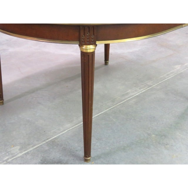 Louis XVI Style Bronze Mounted Dining Table - Image 5 of 8