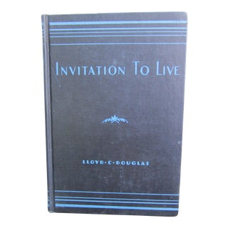 "1940s First Edition ""Invitation to Live Book"" Navy and Aqua Book For Sale"
