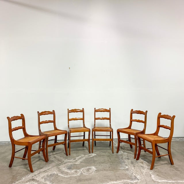 1950s Amana Furniture Walnut Drop Leaf Dining Set - 7 Pieces For Sale In San Francisco - Image 6 of 9