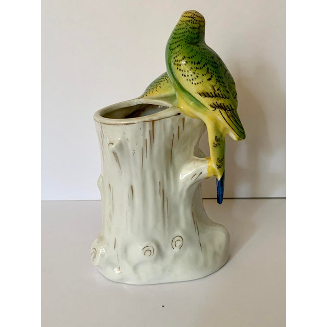 Japanese Porcelain Painted Bird Bud Vase For Sale - Image 4 of 8