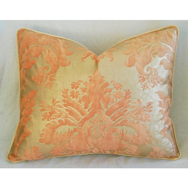 Italian Fortuny Glicine Gold Pillows - A Pair - Image 5 of 11
