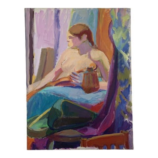 Barbara Yeterian Oil on Canvas Y128 For Sale