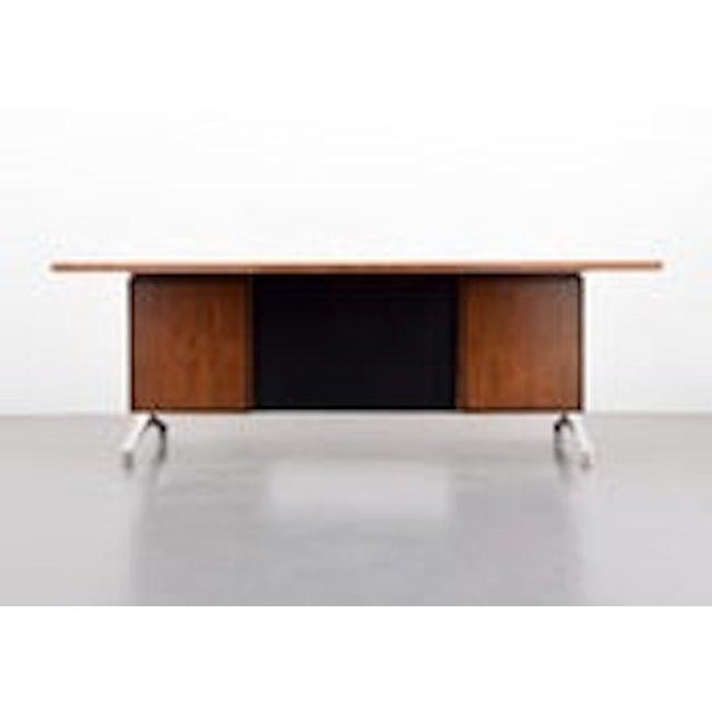 Hollywood Regency Rosewood Desk From Imperial Desk Company, 1960s, Usa For Sale - Image 3 of 5