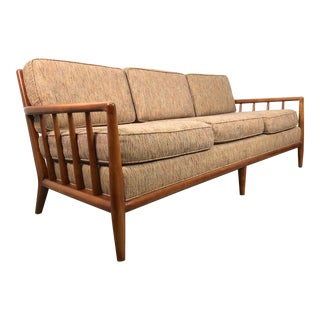 1950s Robsjohn Gibbings Style Spindle Back Sofa
