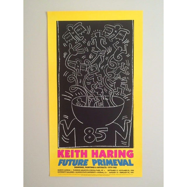 This original offset lithograph print poster commemorates an exhibit of the world famous American artist Keith Haring (...