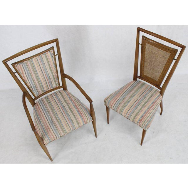 Mid 20th Century Set of Six Mid-Century Modern Walnut Dining Chairs by Widdicomb in Ponti Style For Sale - Image 5 of 10