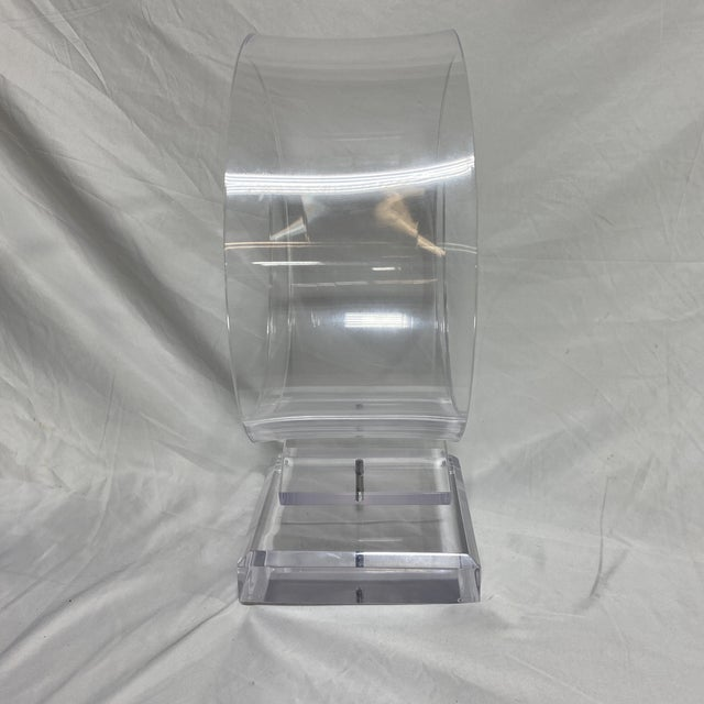 1970s Mid Century Lucite Ribbon Sculpture For Sale - Image 5 of 12