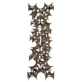 Brutalist Wall Sculpture by Mark Weinstein for Marc Creates For Sale