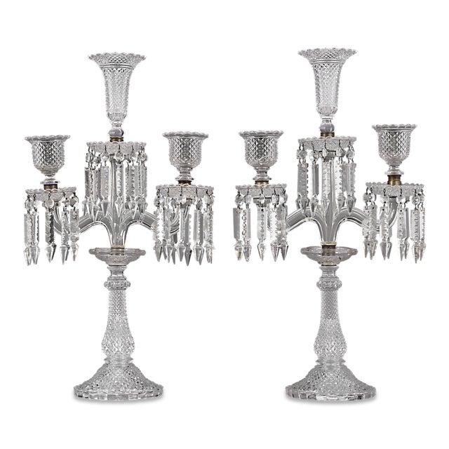 Baccarat Crystal Candelabra For Sale - Image 5 of 5
