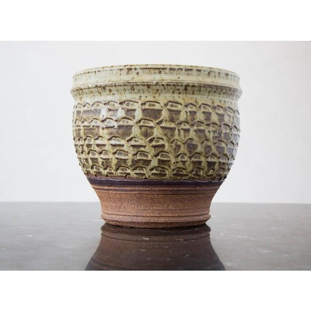 Textured Stoneware Garden Pot - Image 5 of 8