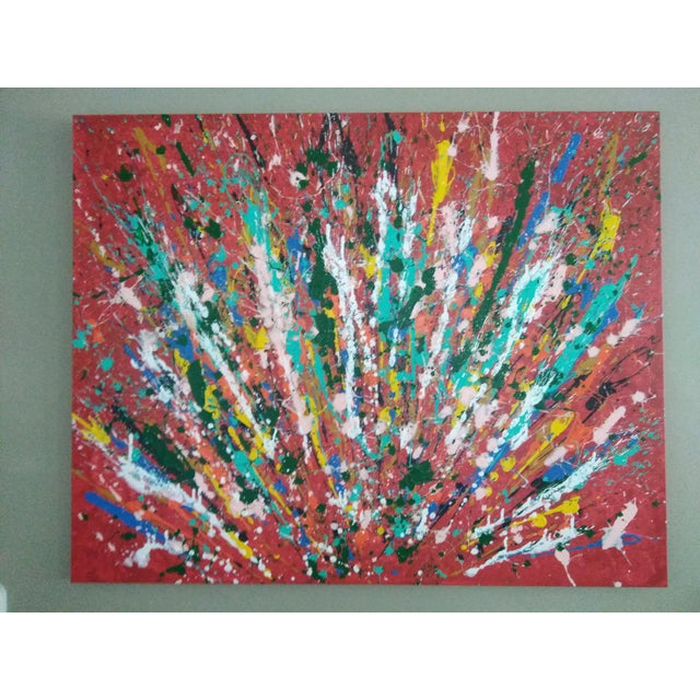 Abstract Expressionism Painting of Peacock For Sale - Image 4 of 4