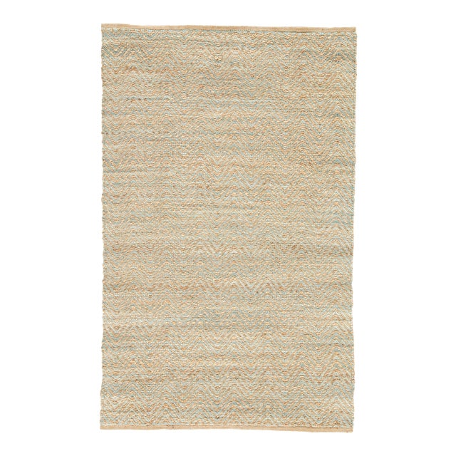 Jaipur Living Reap Natural Chevron Tan & Green Area Rug - 9'x12' For Sale