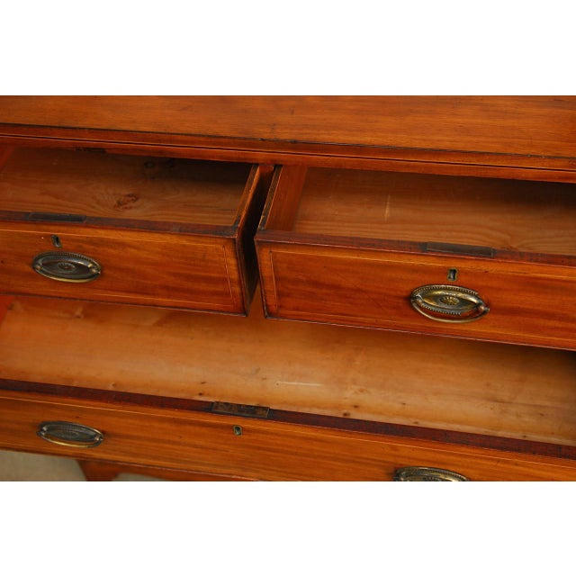 19th Century George III Mahogany Chest of Drawers For Sale - Image 9 of 12