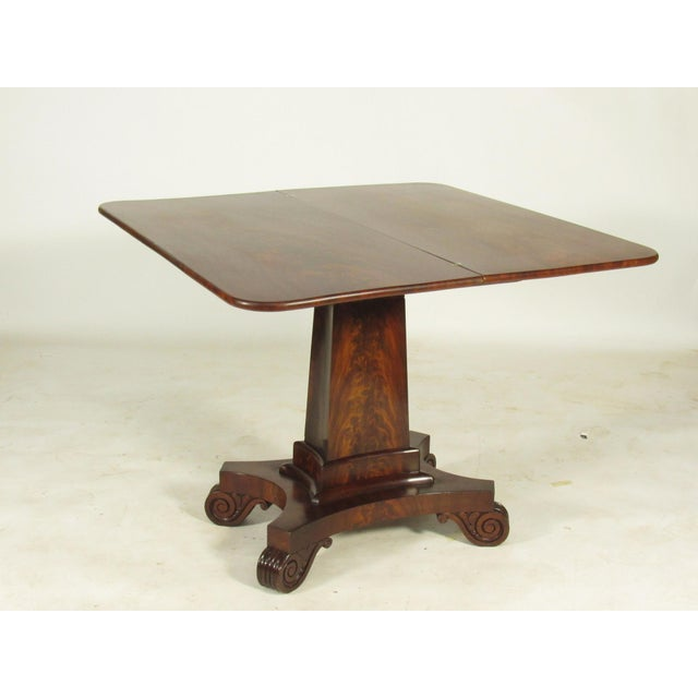 19th Century American Empire Card Table For Sale - Image 4 of 11