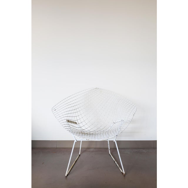 White Bertoia Diamond Chair by Knoll - Image 2 of 6