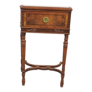 French Style Inlaid One Drawer Stand For Sale