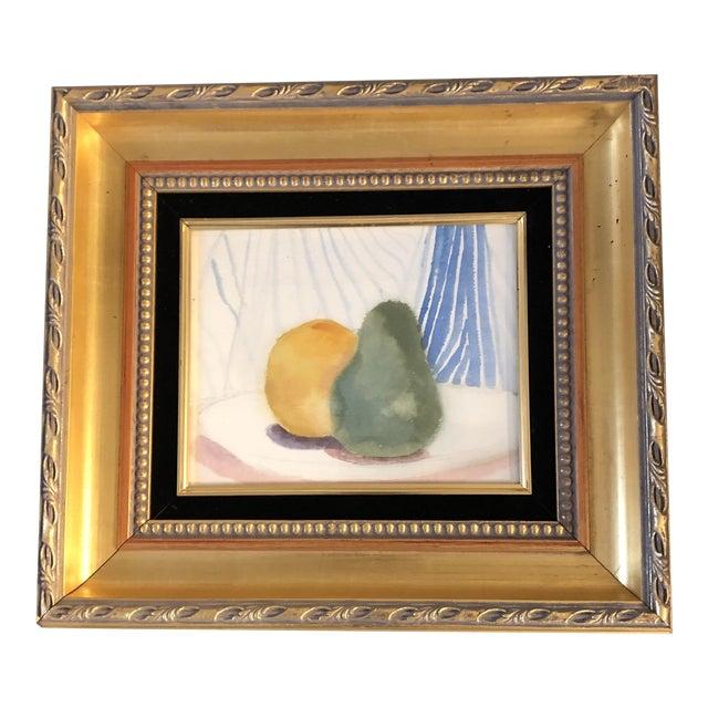 Original Vintage Still Life Watercolor Painting Fruit For Sale