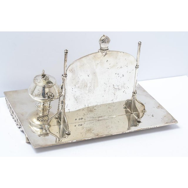 Late 19th Century Sterling silver inkstand For Sale - Image 5 of 9