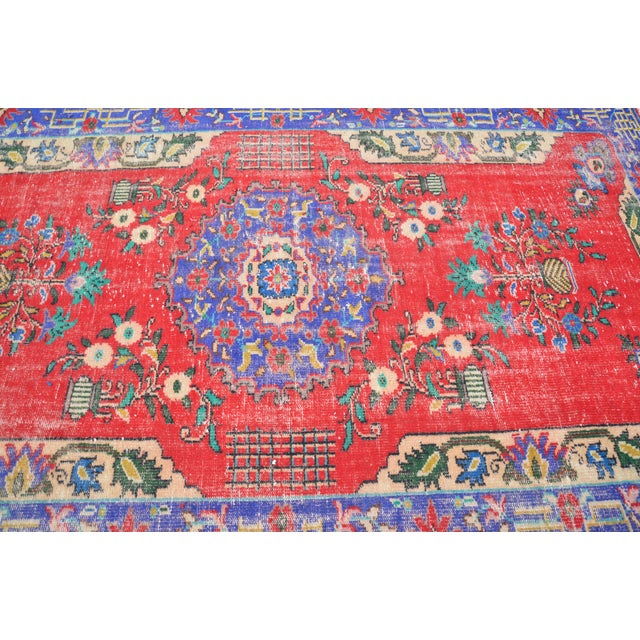 Turkish Oushak Floor Rug - 6′2″ × 9′11″ - Image 6 of 6