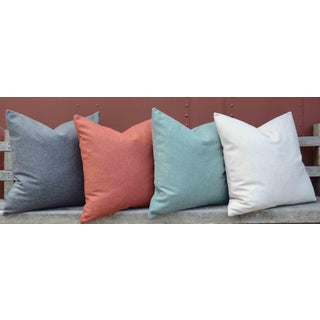 FirmaMenta Italian Solid Orange Sustainable Wool Pillow Preview