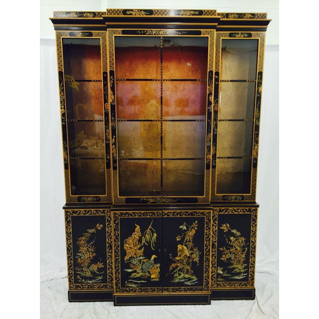 Vintage 1980s Drexel Heritage Asian Chinoiserie China Cabinet - Image 3 of 11