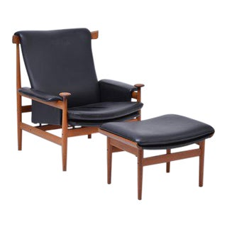 Bwana Armchair & Footstool by Finn Juhl for France & Søn / France & Daverkosen, 1970s For Sale