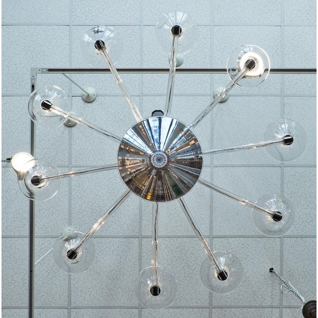 Gold Modernist Customizable Murano Glass Chandelier For Sale - Image 8 of 8