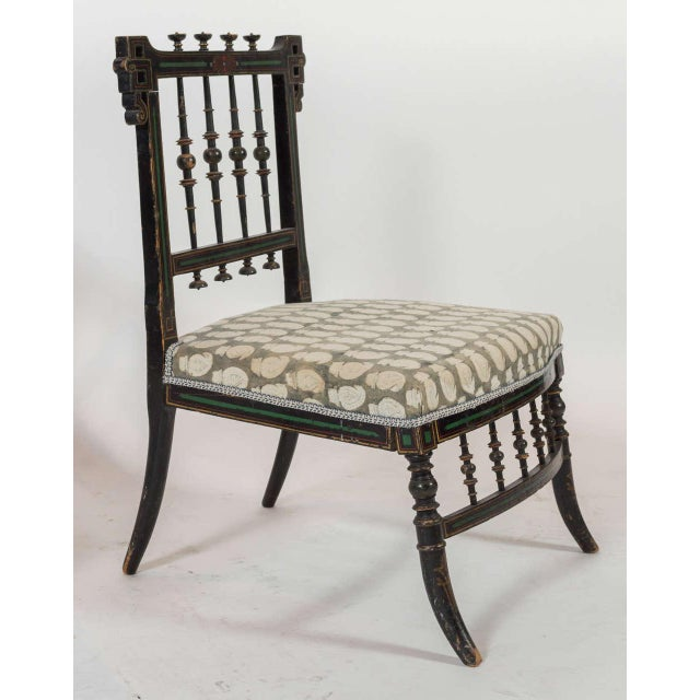 Traditional Pair of Antique Parlor Chairs For Sale - Image 3 of 9